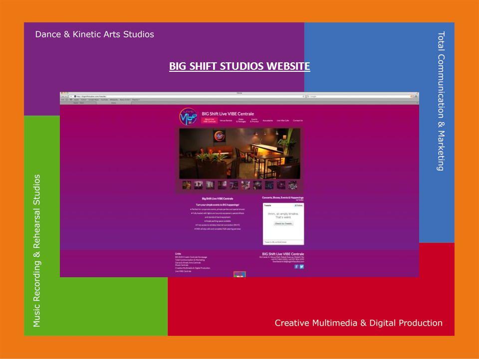 BIG SHIFT STUDIOS WEBSITE