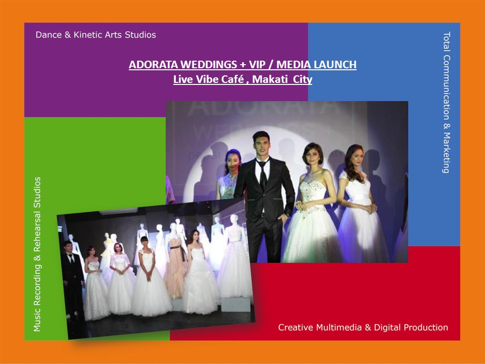 ADORATA WEDDINGS + VIP / MEDIA LAUNCH Live Vibe Café, Makati City