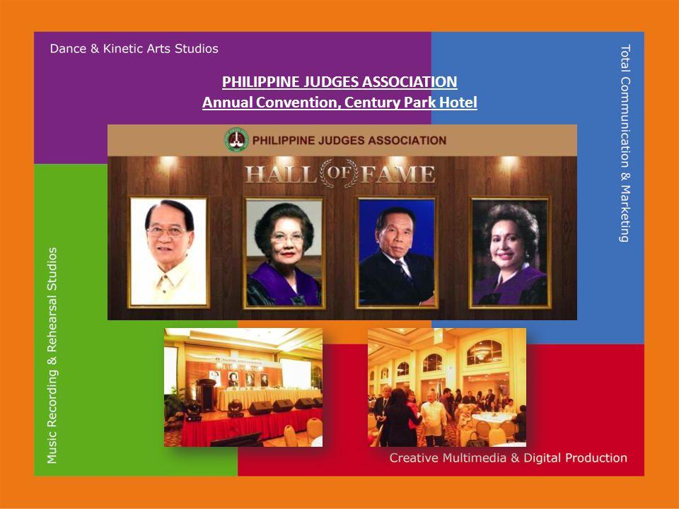 PHILIPPINE JUDGES ASSOCIATION Annual Convention, Century Park Hotel