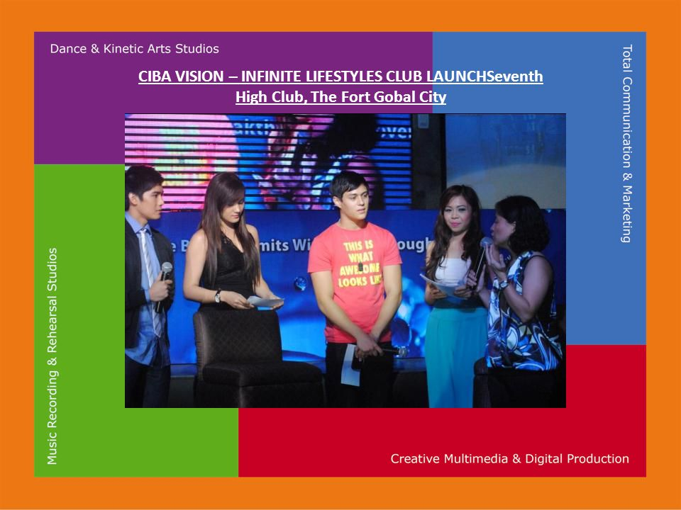 CIBA VISION – INFINITE LIFESTYLES CLUB LAUNCHSeventh High Club, The Fort Gobal City