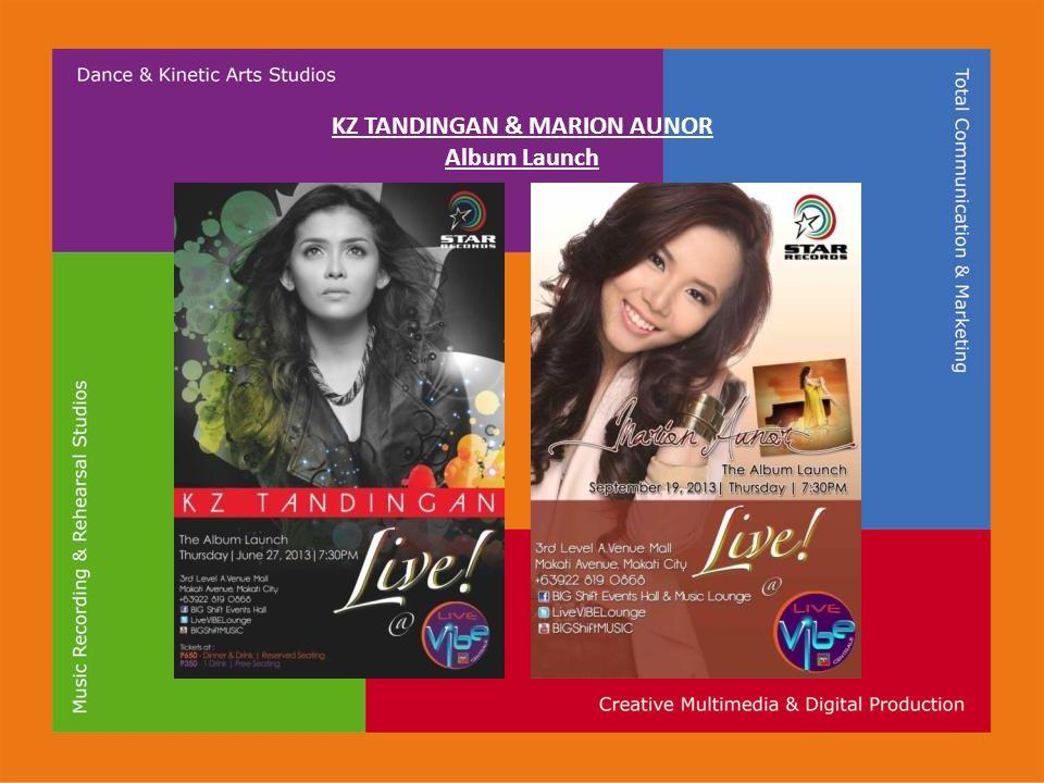 KZ TANDINGAN & MARION AUNOR Album Launch