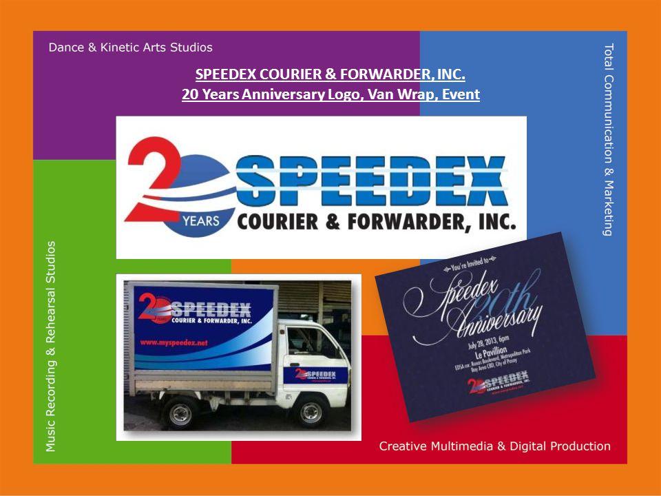 SPEEDEX COURIER & FORWARDER, INC. 20 Years Anniversary Logo, Van Wrap, Event