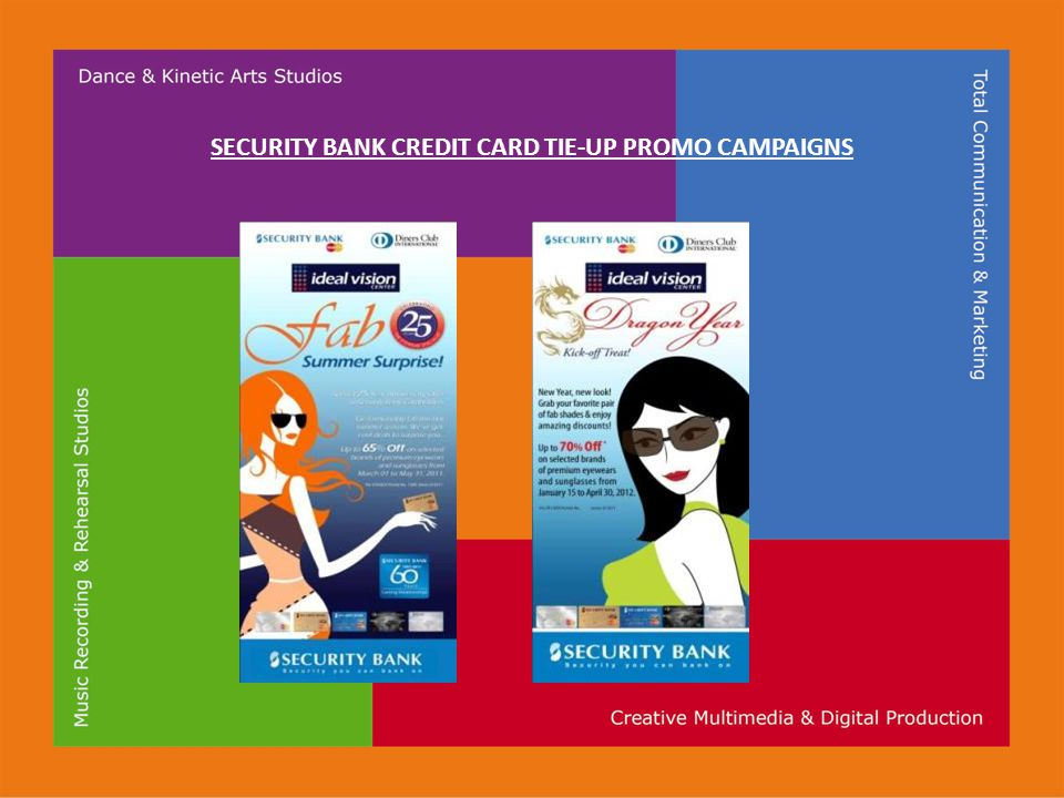 SECURITY BANK CREDIT CARD TIE-UP PROMO CAMPAIGNS