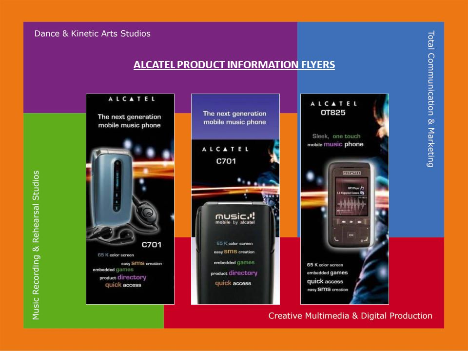 ALCATEL PRODUCT INFORMATION FLYERS