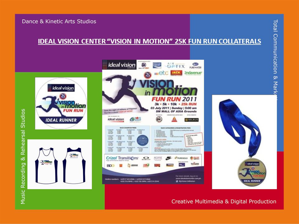 IDEAL VISION CENTER VISION IN MOTION 25K FUN RUN COLLATERALS
