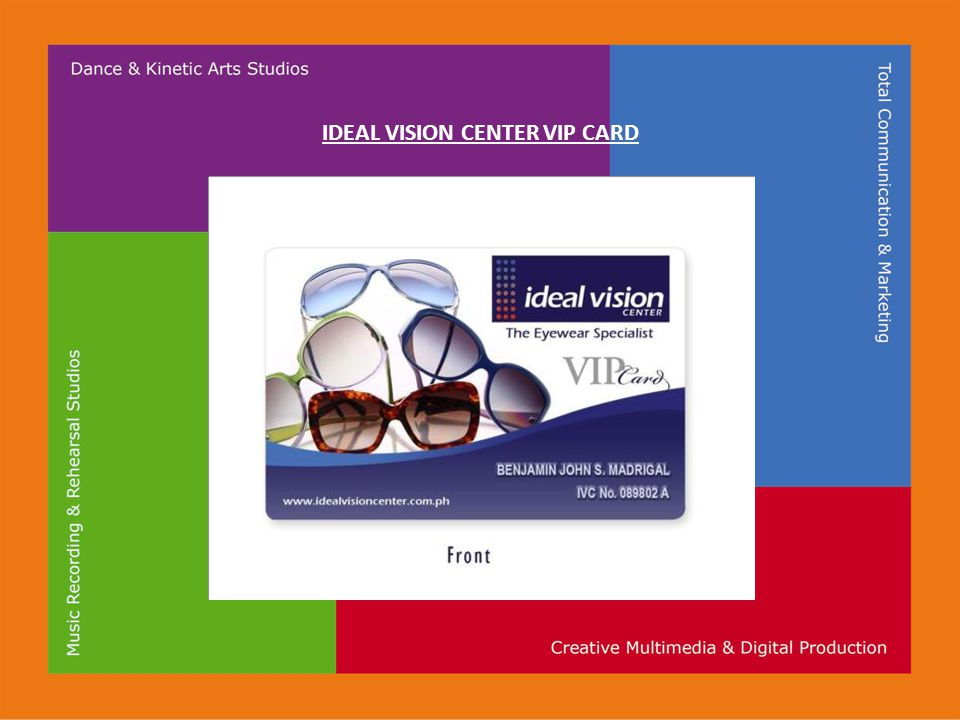 IDEAL VISION CENTER VIP CARD