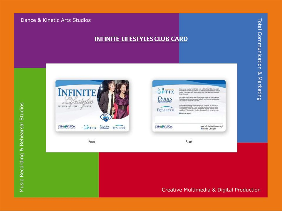 INFINITE LIFESTYLES CLUB CARD