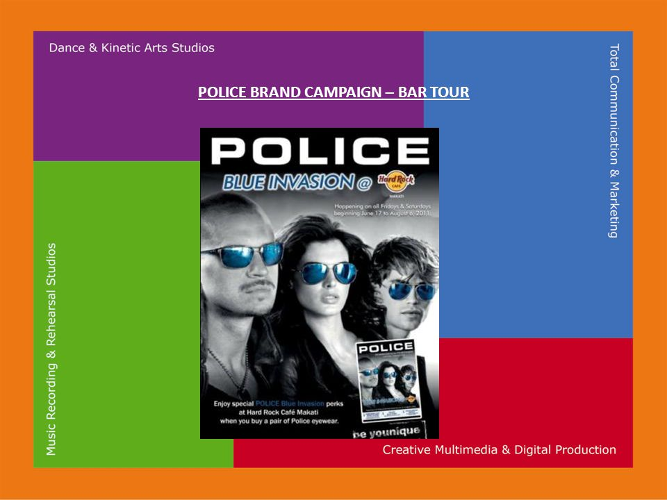 POLICE BRAND CAMPAIGN – BAR TOUR