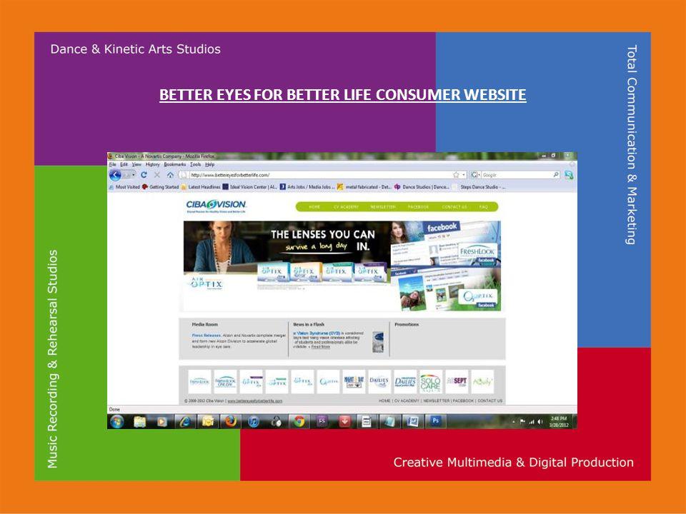 BETTER EYES FOR BETTER LIFE CONSUMER WEBSITE