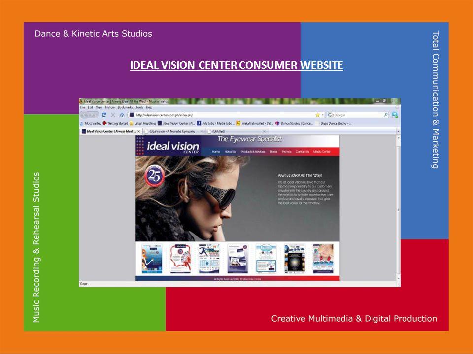 IDEAL VISION CENTER CONSUMER WEBSITE