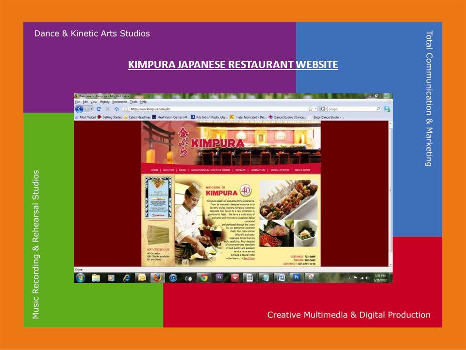 KIMPURA JAPANESE RESTAURANT WEBSITE