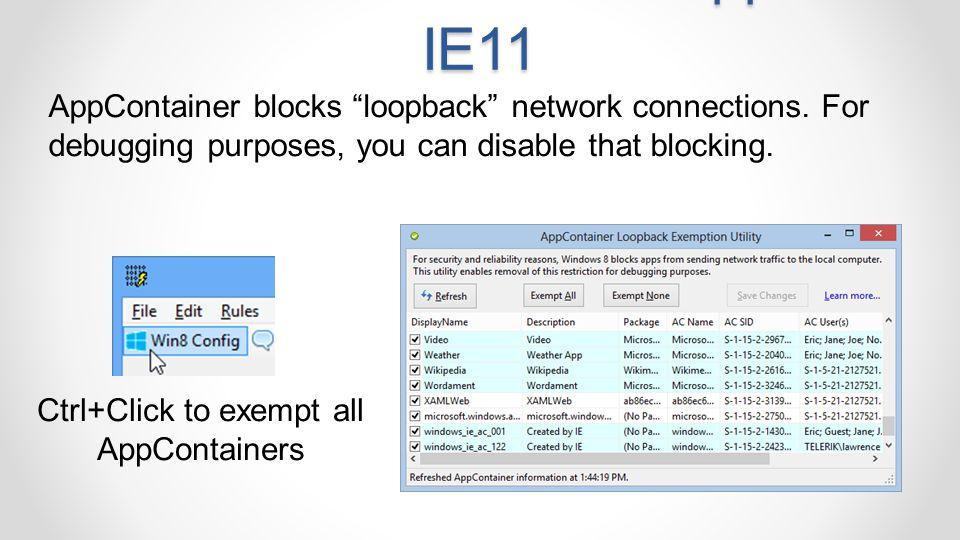 Win8/8.1 Immersive Apps & IE11