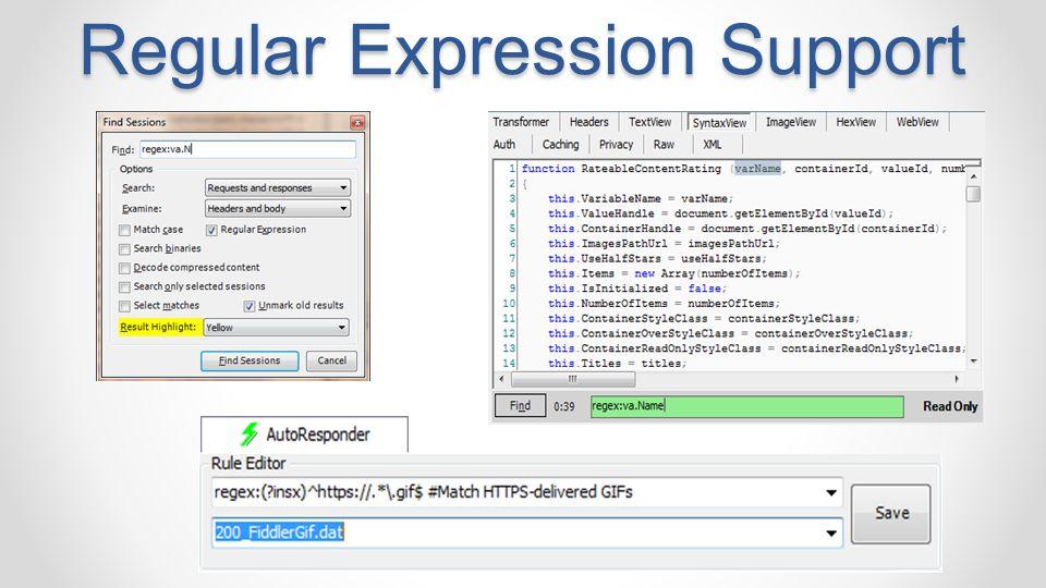 Regular Expression Support