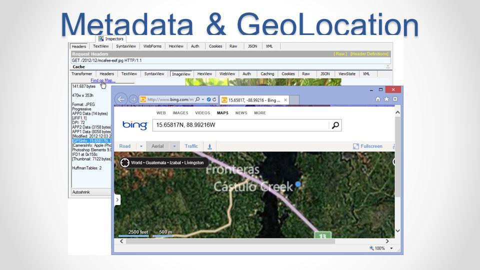 Metadata & GeoLocation