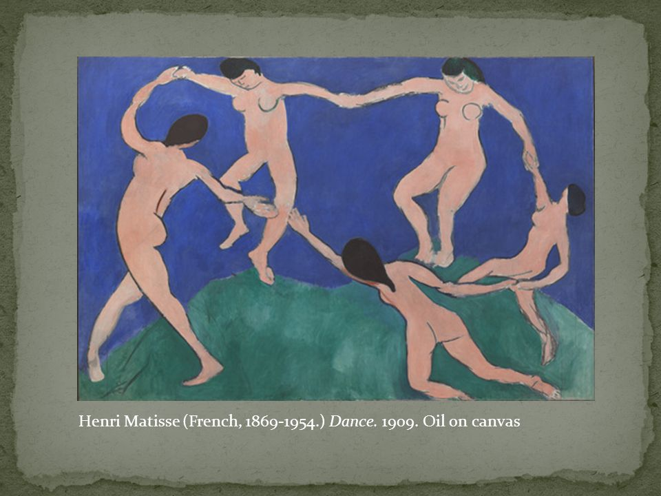 Henri Matisse (French, 1869-1954.) Dance. 1909. Oil on canvas