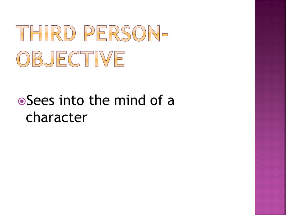 SSees into the mind of a character