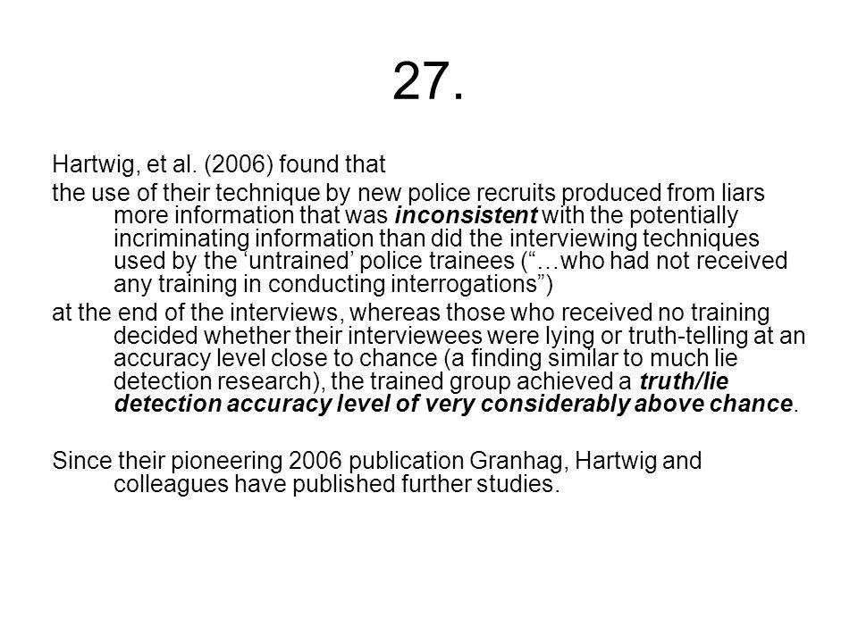 27. Hartwig, et al.