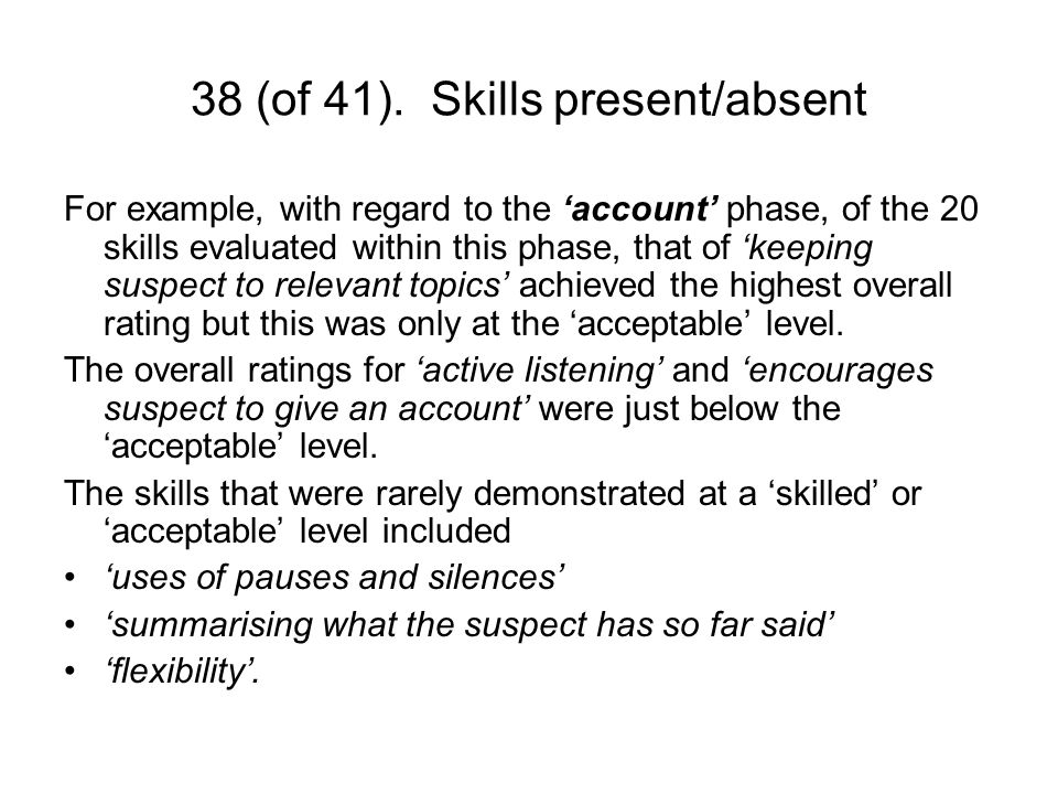 39 (of 41).Interview outcomes For every interview for each phase (i.e.