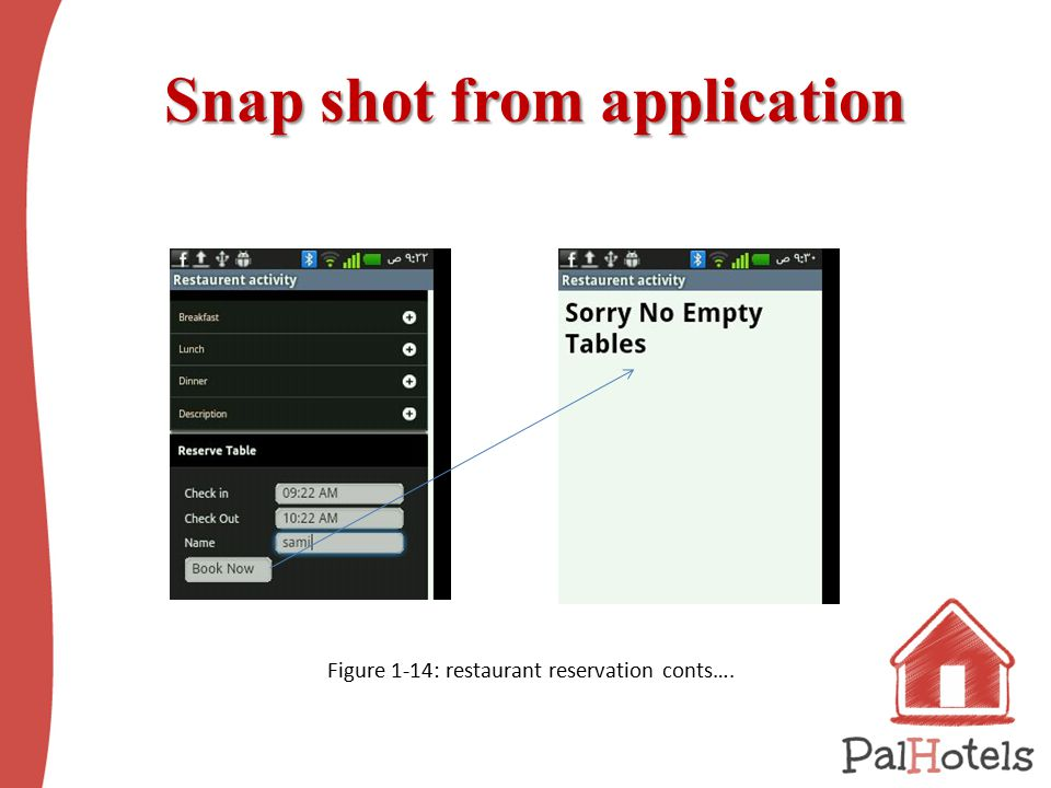 Snap shot from application Snap shot from application Figure ‎1 ‑ 14: restaurant reservation conts….