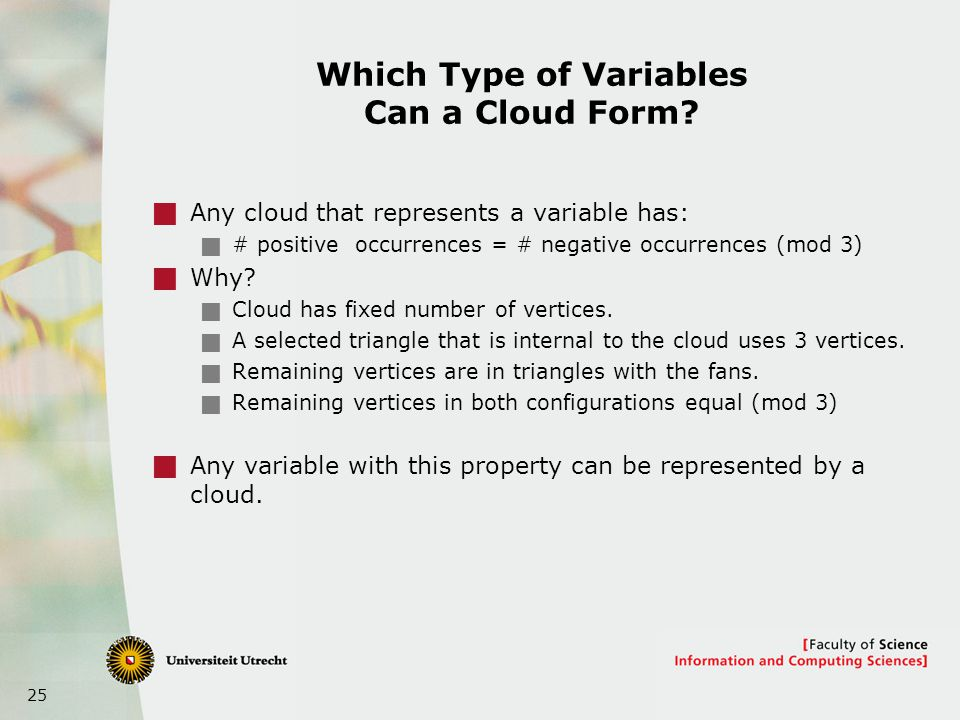 25 Which Type of Variables Can a Cloud Form.