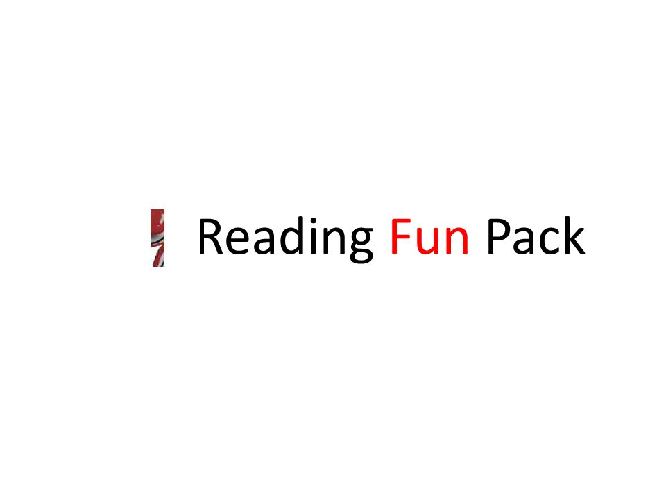 Reading Fun Pack
