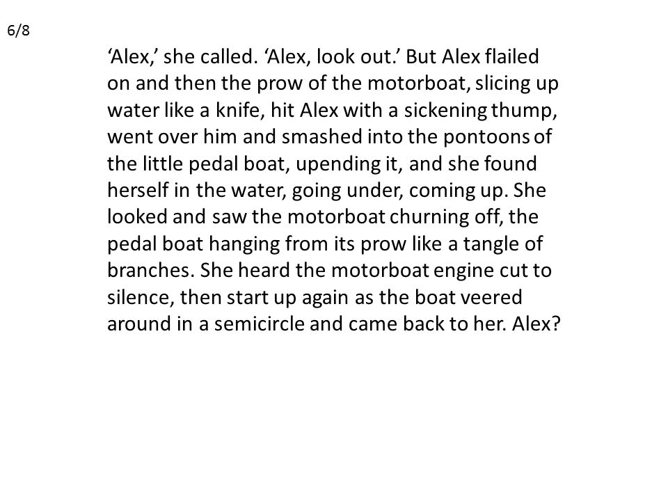 'Alex,' she called.
