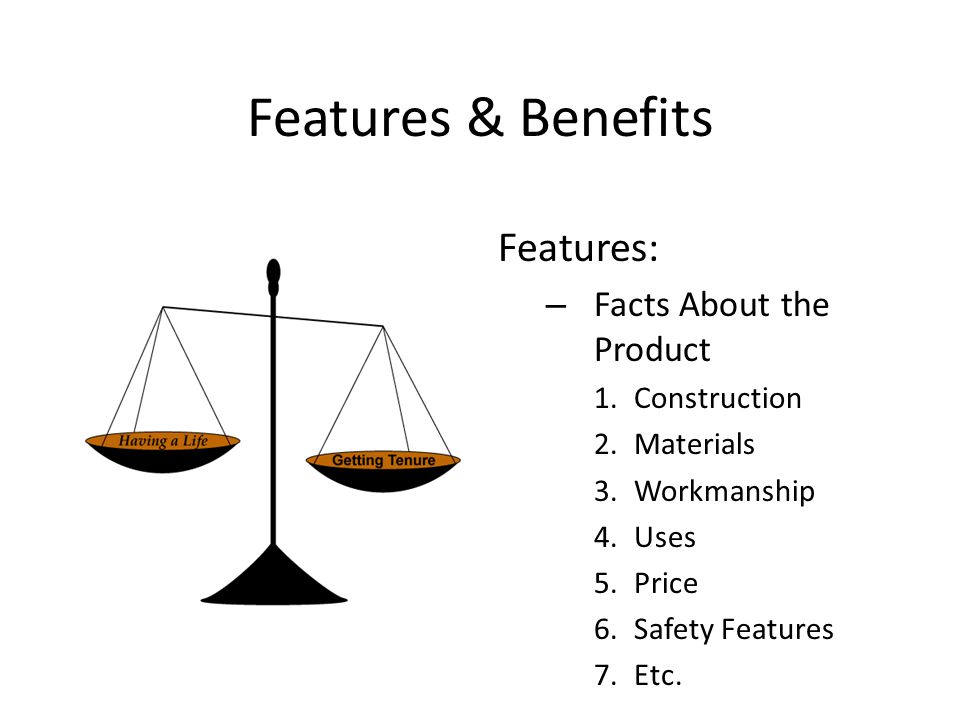 Features & Benefits Features: – Facts About the Product 1.Construction 2.Materials 3.Workmanship 4.Uses 5.Price 6.Safety Features 7.Etc.