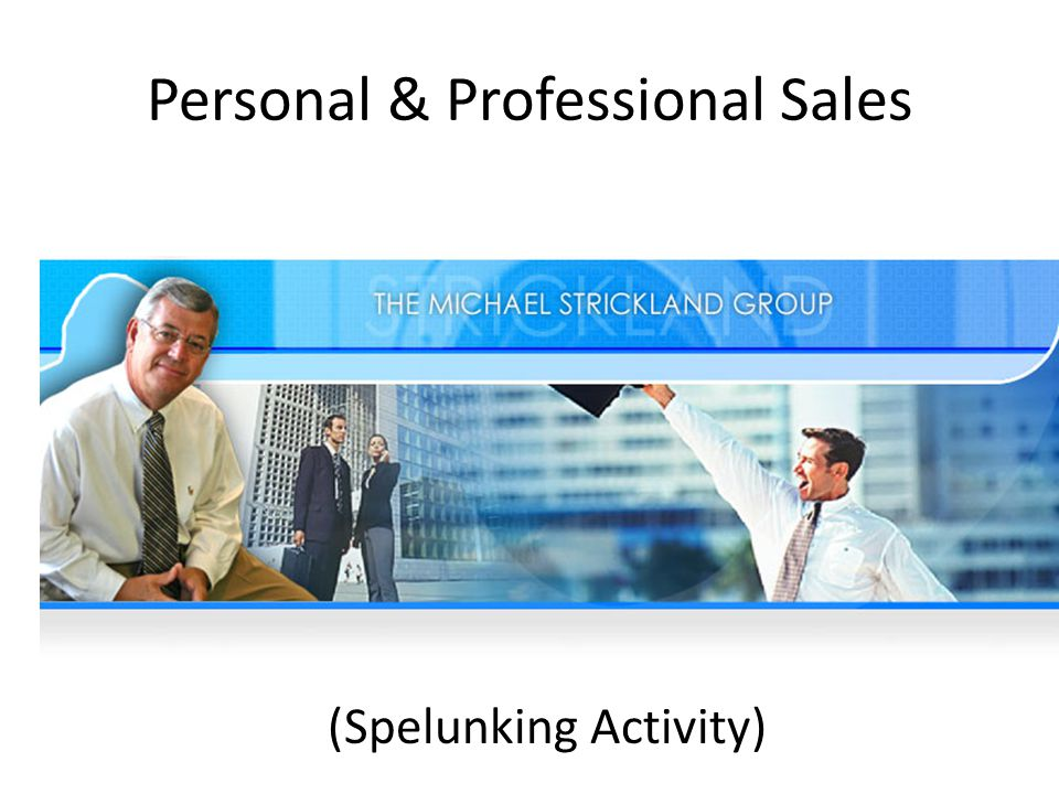 Personal & Professional Sales How Can You Sell Anything... ? Activity
