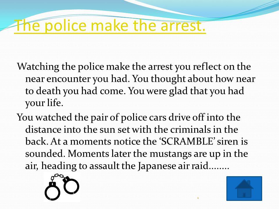 Police use the anti-terrorism manoeuvre.