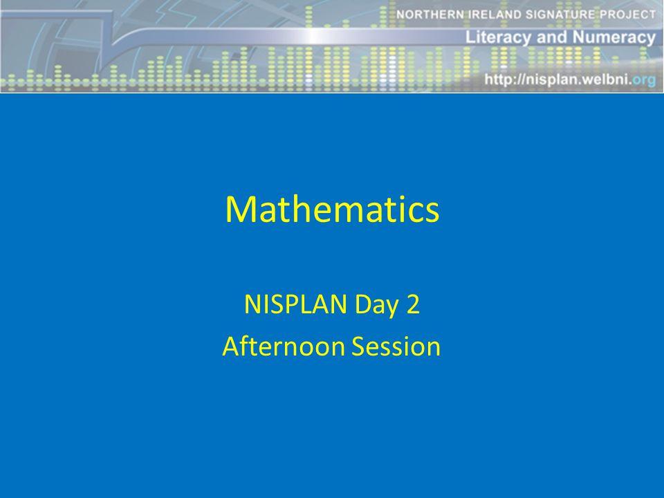 Mathematics NISPLAN Day 2 Afternoon Session