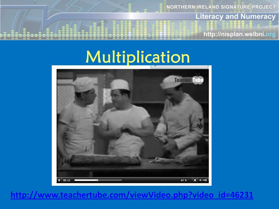 Multiplication http://www.teachertube.com/viewVideo.php video_id=46231