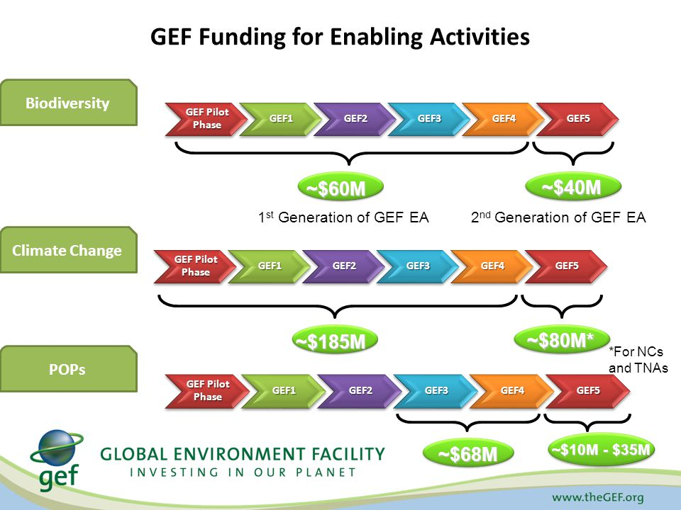 Modalities of GEF support Support to national country- driven proposals.