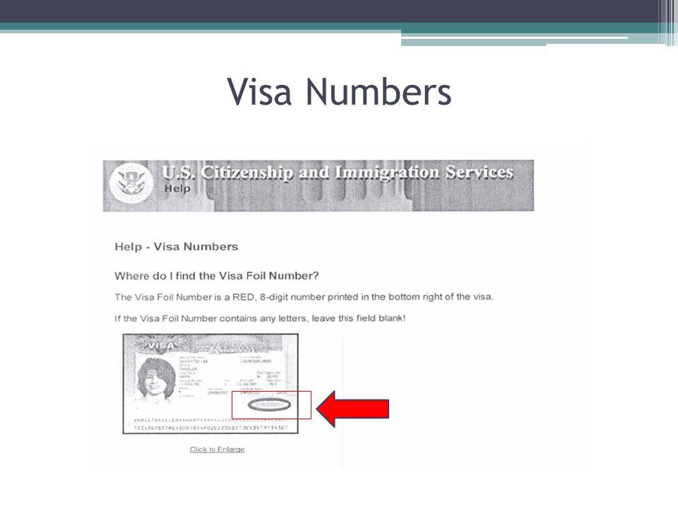 Visa Numbers