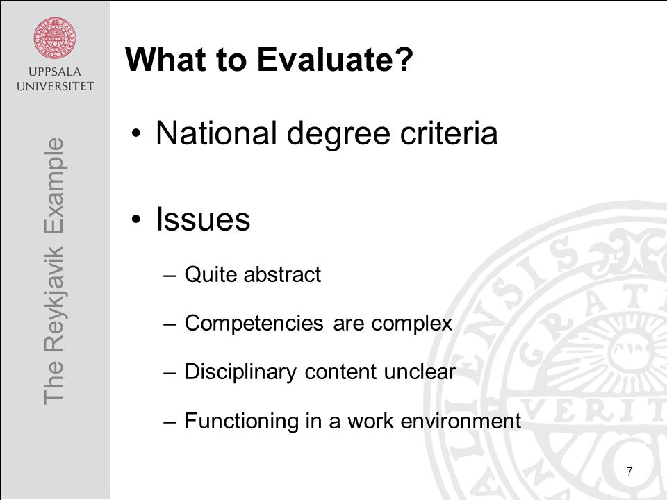 It takes time to conduct ACM CS Curricula 2013 useful Faculty positive Combination of process and outcome based worked well Areas of improvement were identified The study is limited in size and local Measures are not validated 18 Conclusions