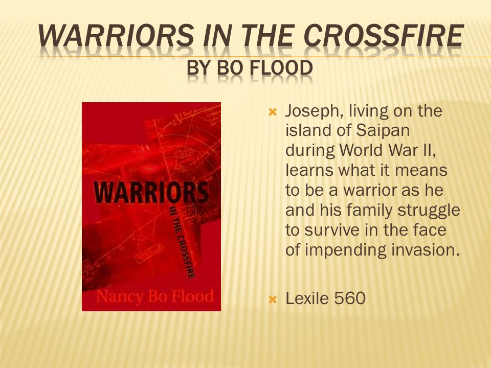  Joseph, living on the island of Saipan during World War II, learns what it means to be a warrior as he and his family struggle to survive in the face of impending invasion.