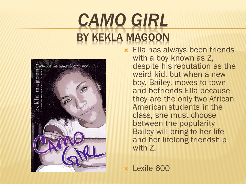  Ella has always been friends with a boy known as Z, despite his reputation as the weird kid, but when a new boy, Bailey, moves to town and befriends Ella because they are the only two African American students in the class, she must choose between the popularity Bailey will bring to her life and her lifelong friendship with Z.