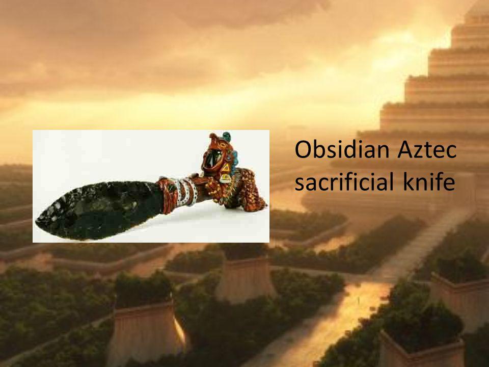 Obsidian Aztec sacrificial knife