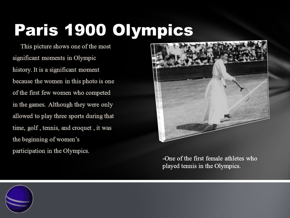 Paris 1900 Olympics This picture shows one of the most significant moments in Olympic history.