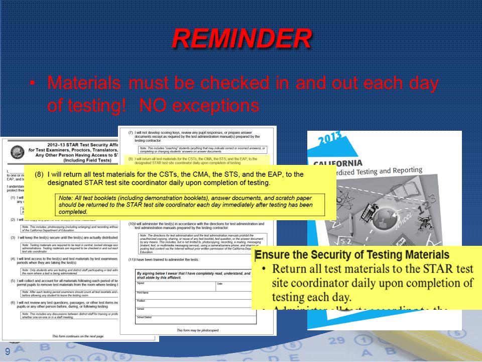 10 Testing Schedule DateTimeTest to Administer Insert your test schedule