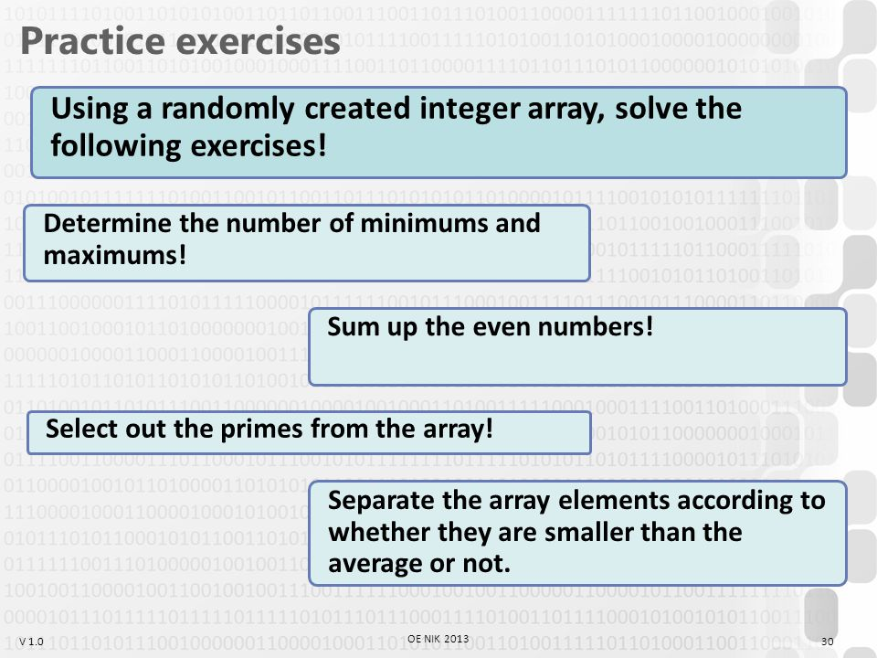 V 1.0 Practice exercises Determine the number of minimums and maximums.