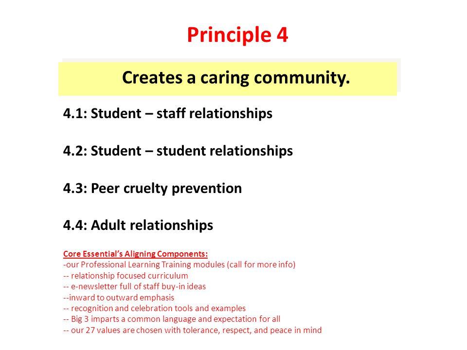 Creates a caring community.
