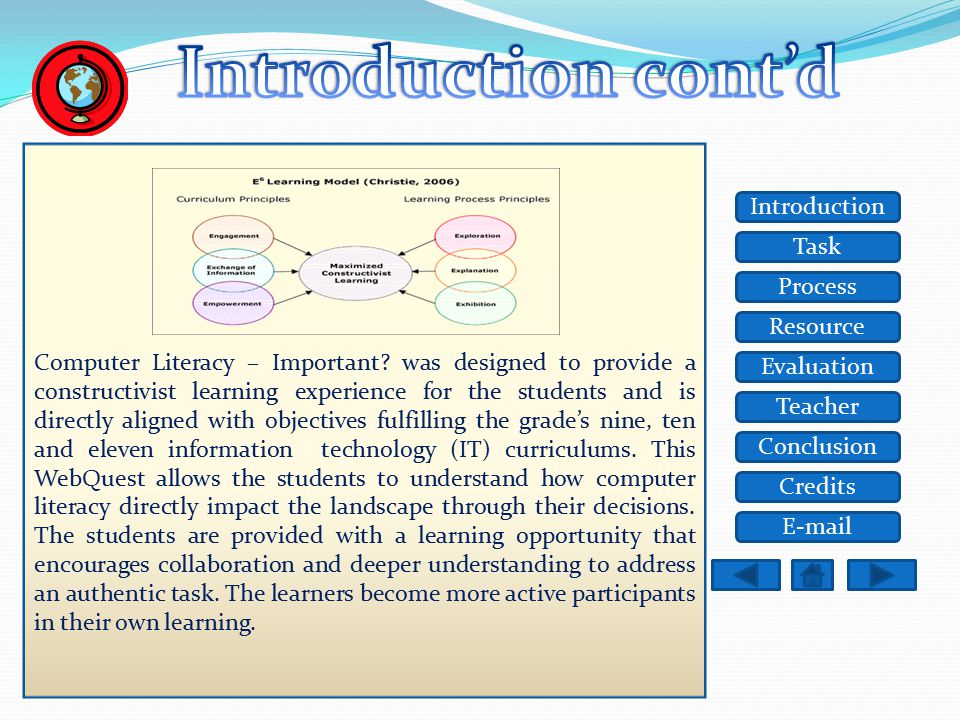 Task Resource Process Evaluation Teacher Conclusion Credits Introduction E-mail There is a computer for every use under heaven, or so it seems, Let's