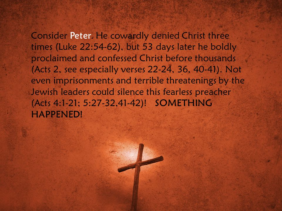 Consider Peter.