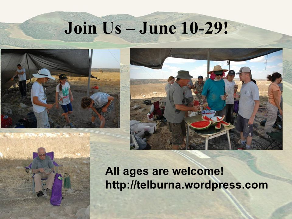 Join Us – June 10-29! All ages are welcome! http://telburna.wordpress.com