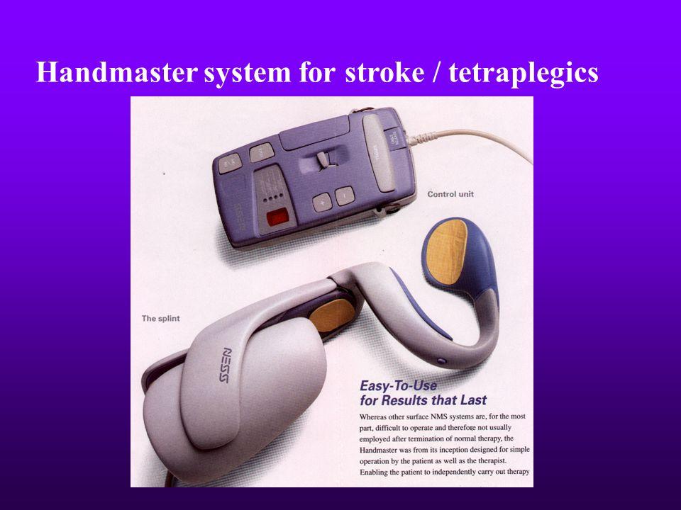 Handmaster system for stroke / tetraplegics