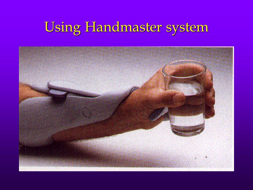Using Handmaster system