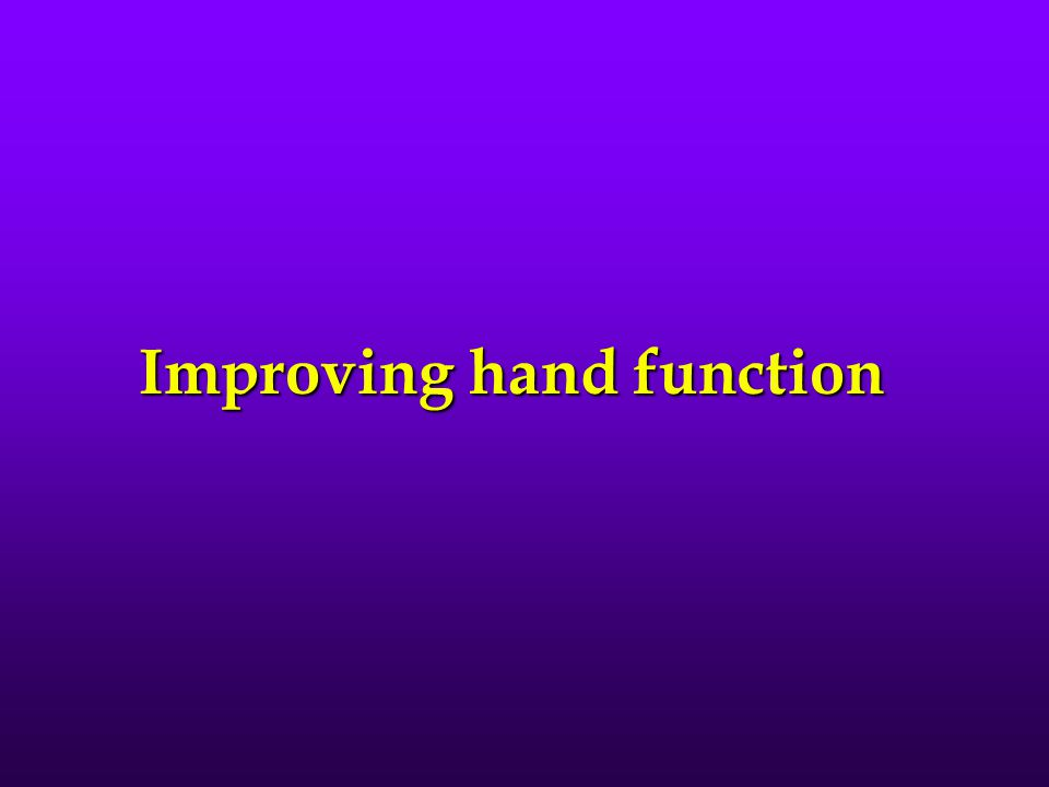 Improving hand function