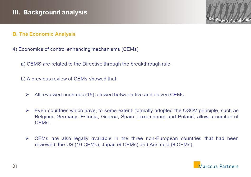 32 III.Background analysis C.