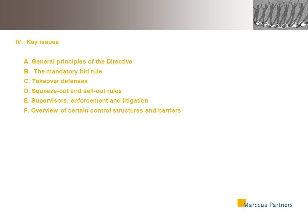 34 IV.Key issues A.