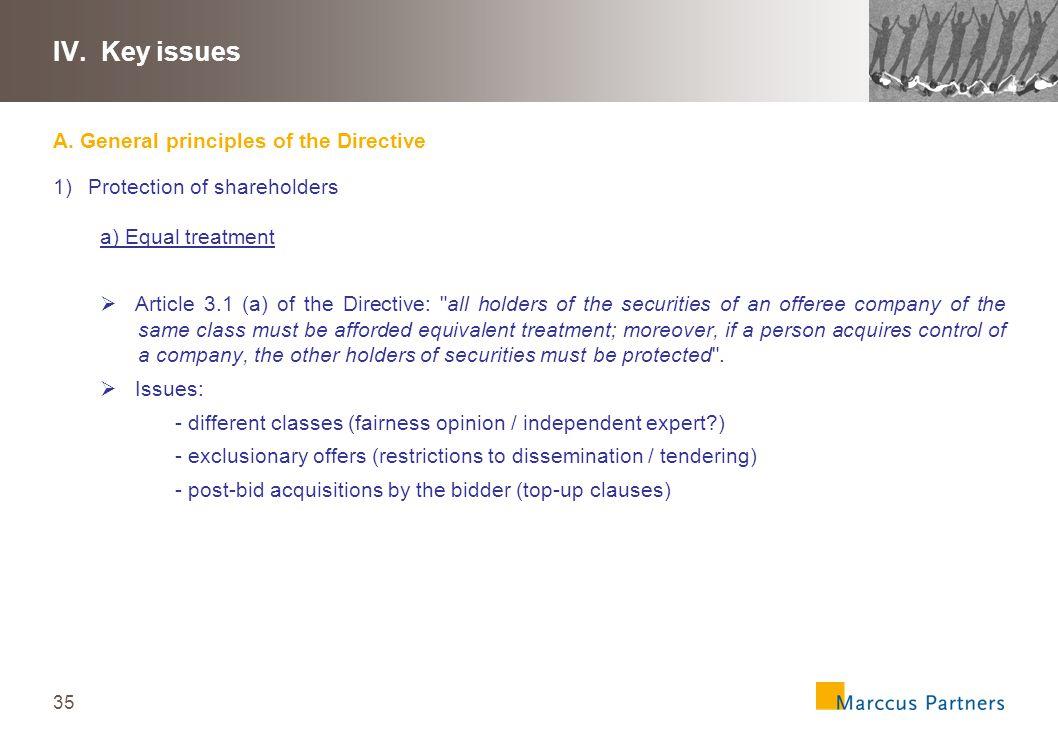 36 IV.Key issues A.